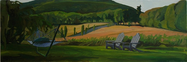 plein air landscape oil painting