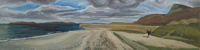 landscape, Ireland, West Coast, horizon line, clew any, oil