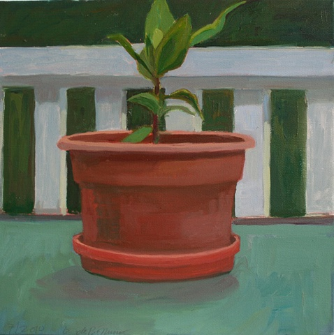 plein air still-life oil painting