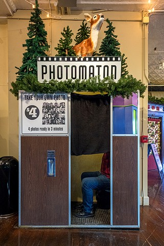 in the photobooth, Northampton, MA, 1-3-18