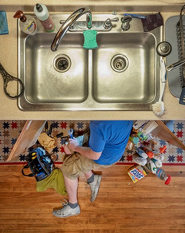 fixing the sink, 7-25-18