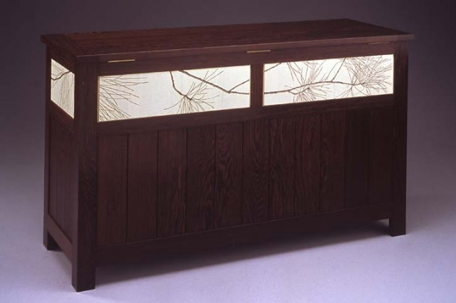 Blanket Chest with Pine Branches
