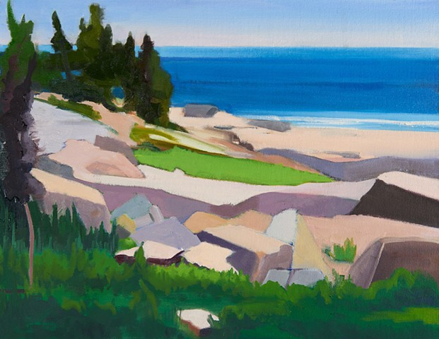 Schoodic Point Painting