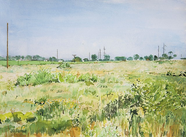 Roswell Artist in Residency Landscape water color by artist Jeff Krueger