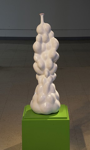 biomorphic ceramic sculpture by artist Jeff Krueger