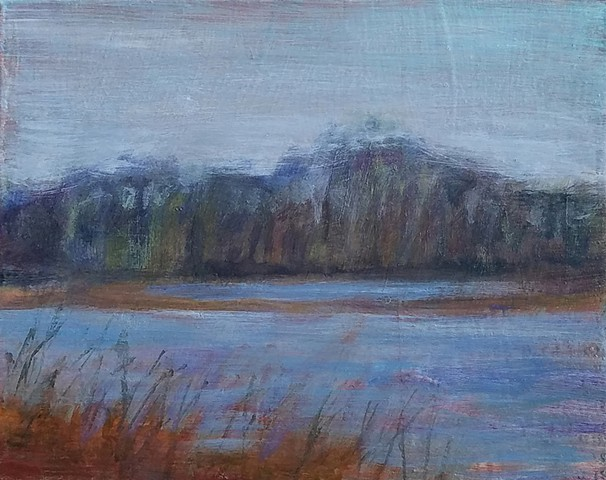 Landscape in Soft Blues and Ochres (*Sold)