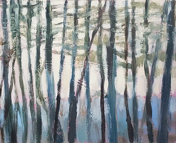 Soft Green Pines, Yellow Sky (*Sold)