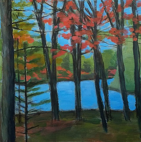Lake View Trees, Fall Color (*Sold)