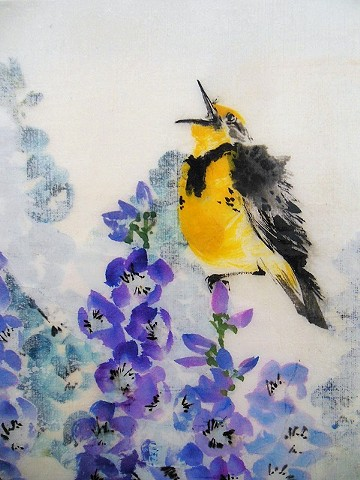 Meadowlark and Delphinium