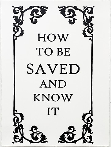 How to be Saved and Know It