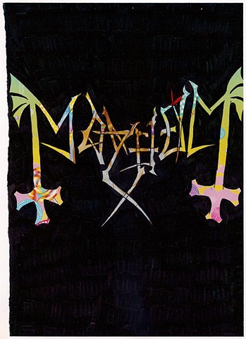 Mayhem Logo on Mariah Carey's Lollipop Bling Ad