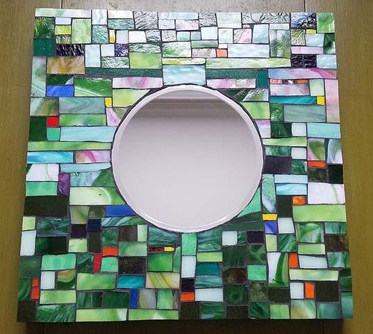 Green Fields  Mirror (SOLD)