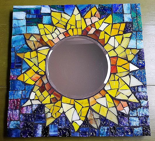 Sunflower Mirror (SOLD)