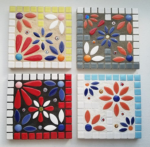 Flower Coaster Set (SOLD)