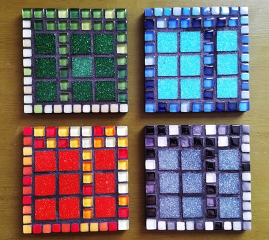Quad Coasters (price per coaster) (SOLD)