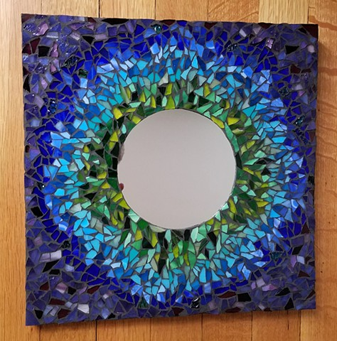 Peacock Mirror (SOLD)