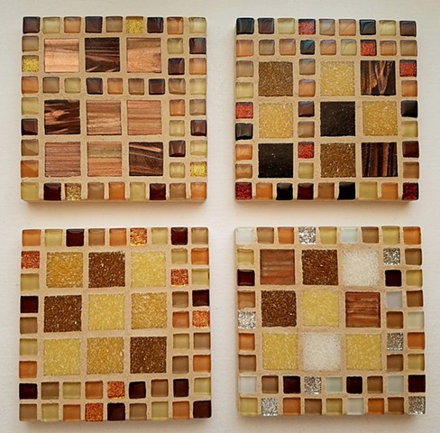 Mixed Beige Coaster Set (SOLD)