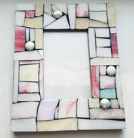 White-Pink Frame (SOLD)