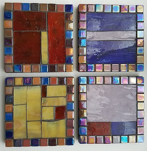 Stained Glass Coaster Set (1 available)