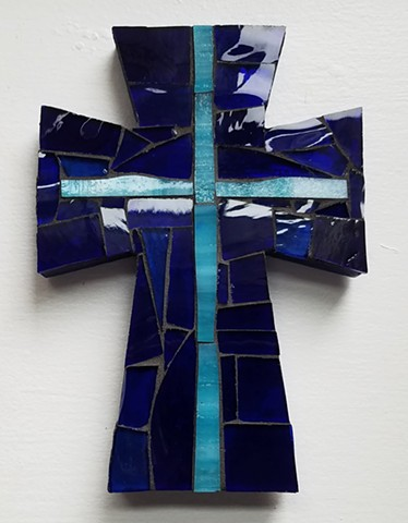Decorative Blue Cross (SOLD)