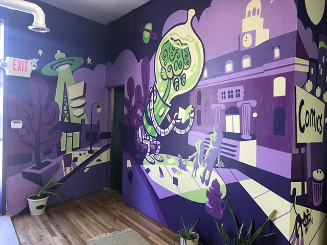Green Brain Comics Mural