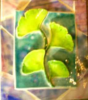 Ginko on Stained Glass Mosaic