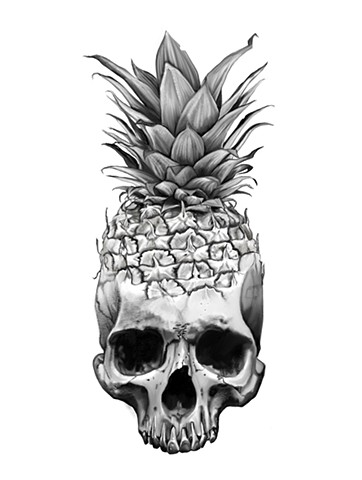Pineapple and skull morph