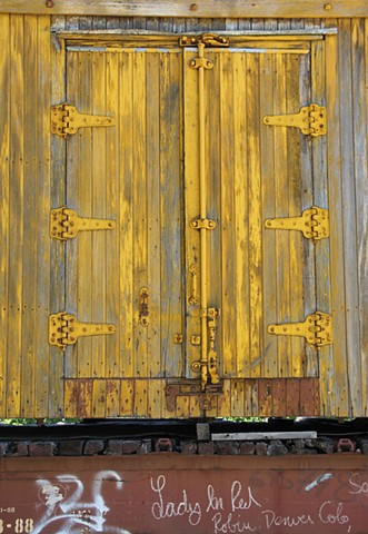 Yellow Train Doors