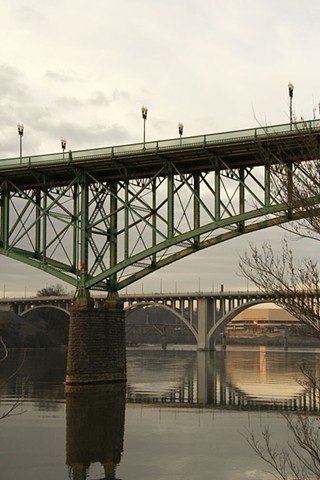 Knoxville Bridge Reflections
