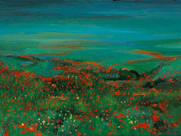 The fragrance of wild poppies along the Adriatic Sea