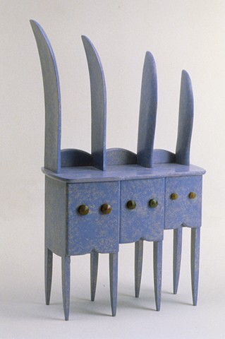 Rabbit Cabinet painted wood furniture Emi Ozawa