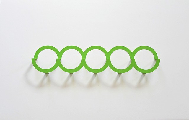 Five Green Circles