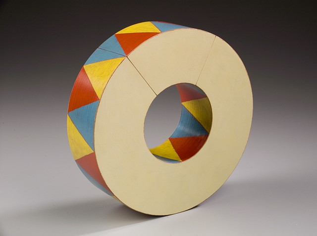 painted wood kinetic sculpture Emi Ozawa