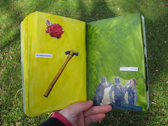 2012 sketchbook project the senses don't lie rose hammer van gogh's three drinkers painting photo by Holly Campbell