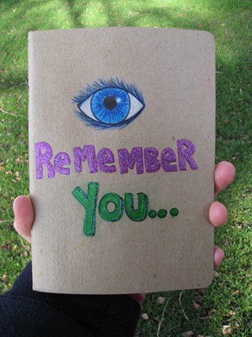 2012 eye i remember you scketchbook project front cover by Holly Campbell