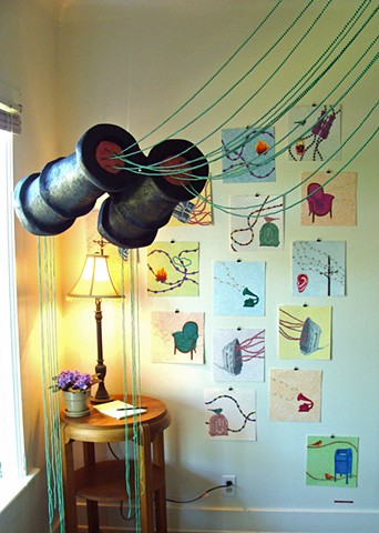 Installation of Contents, Parlor Room Gallery, Puyallup, WA, 2010