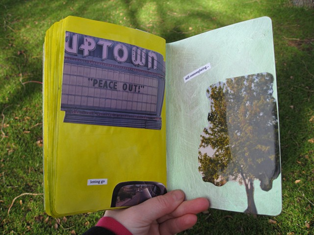 sketchbook project 2012 upton peaceout letting go still contemplating tree theatre by Holly Campbell