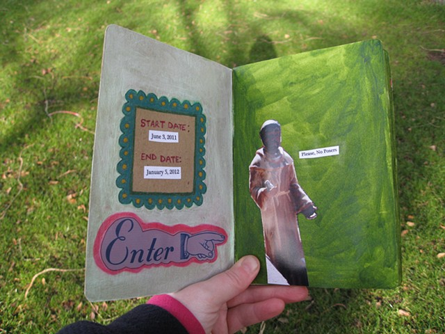 2012 sketchbook project enter page saint francis please no posers page by Holly Campbell
