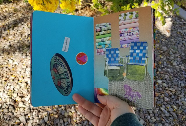 mixed-media collage sketchbook Brooklyn Art LIbrary Sketchbook Project Vol. 15 by Holly Campbell