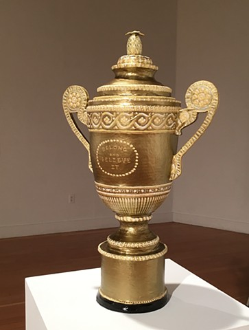 Belong and Believe It.  Men's Wimbledon Trophy