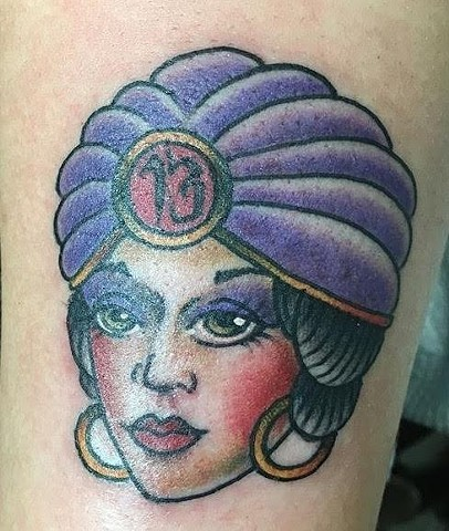 Fortune teller tattoo