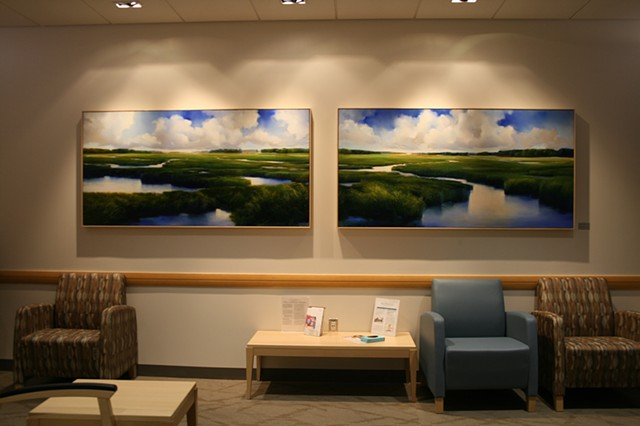 Hospital commission, calming, serene, Ct salt marsh