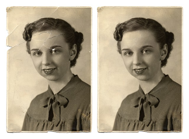 Photo Restoration, Before and After