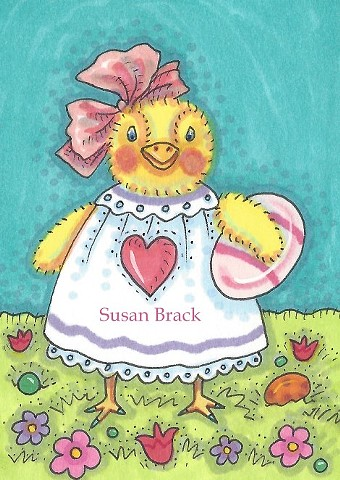 First Easter Baby Chick Egg Cute Holiday Susan Brack Art License