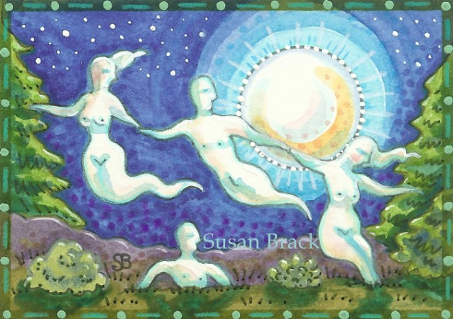 Cemetery Mourning Haunted Nudist Colony Nude Ghosts Spirit Susan Brack Art EBSQ EHAG