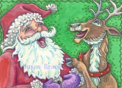 Laughing Santa Reindeer Knock Knock Jokes Christmas Susan Brack Humor