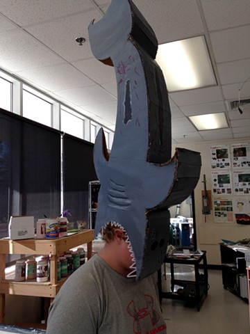 Shark wearable sculpture