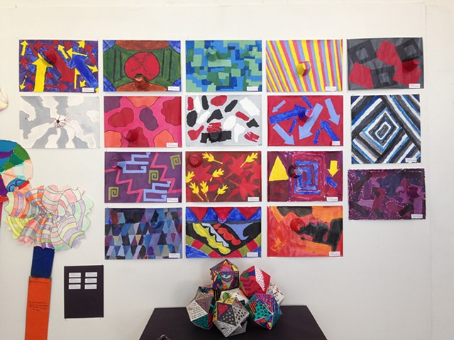 View of install of middle school end of year show
