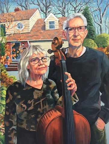 American Gothic, Grant Wood farmers Cleveland Heights couple