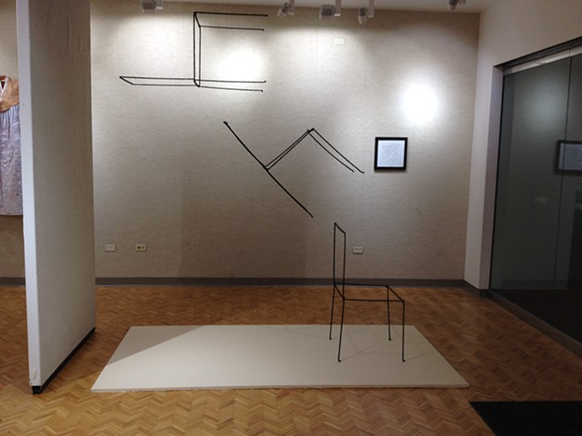 Installation View at Scale Show, Stocker Art Center Gallery, Lorain